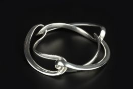 Regitze Overgaard (Contemporary) for Georg Jensen 'Infinity' bangle signed and stamped '925S
