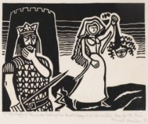 Edward Bawden (1903-1989) The Lady of the Lake took up her Head & Hung it at her Saddle; and Alas,