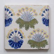 William Morris (1834-1896) Daisy pattern tile, circa 1870 15.5 x 15.5cm. Provenance: The Blanchett