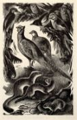 Agnes Miller Parker (1895-1980) Four scenes from Life of the Fields, 1947 wood engravings largest 19