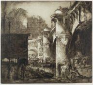 Frank Brangwyn (1867-1956) Pont Neuf, Paris, No.2, 1919 signed in pencil (in the margin) etching