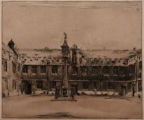 William Nicholson (1872-1949) Oxford College, 1905 signed and inscribed 'No. 23' in brown ink (in