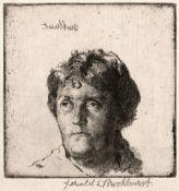 Gerald Leslie Brockhurst (1890-1978) The Artist's Mother, 1920 signed in pencil (in the margin)