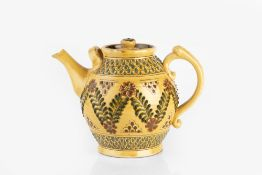 Jason Shackleton (Contemporary) Teapot, 1982 slipware incised potter's seal and date 23.5cm high.