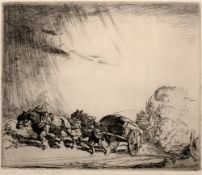 Ernest Herbert Whydale (1886-1952) Nearing the Hilltop signed in pencil (in the margin) etching 25 x