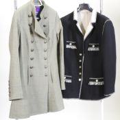 A Beaver of Bolton, William Powell tweed military style ladies coat, size 14,