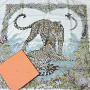 An Hermes silk scarf, Jungle Love, by R Dallet,