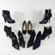 A pair of Manolo Blahnik black high heeled boots, size 37.