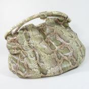 A Donna Karan leather and snakeskin tote bag,