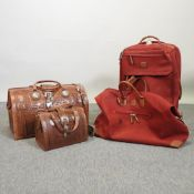 An American West Heritage collection tooled leather holdall, 50cm,