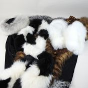 A collection of modern fur stoles, to include a Hockley wrap,