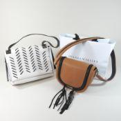 An Amanda Wakeley brown handbag, 24cm,