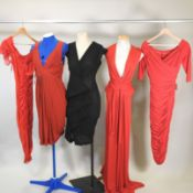 A Laura Byrnes red cocktail dress, an Issa red dress,