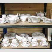 An extensive Wedgwood Sandon pattern bone china part tea and dinner service,