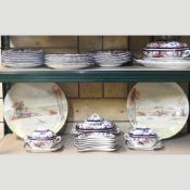 A Wedgwood Montrose pattern part dinner service, with tureens,