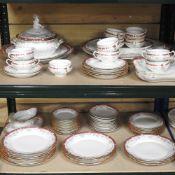 An extensive early 20th century KPM Berlin porcelain white dinner service,