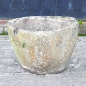A marble mortar, of large proportions,