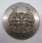 Gordon Highlanders Plaid Brooch