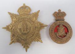 Duke of Cornwall Light Infantry Glengarry and Helmet Plates