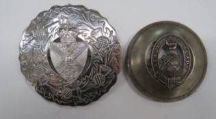 Two Scottish OTC Plaid Brooches