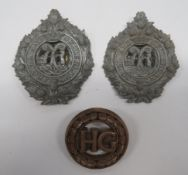 Three WW2 Plastic Economy Badges