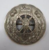 Royal Highlanders Plaid Brooch