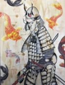 Casey Guest - The Last of the Samurai - mixed media : w 420 x h 600mm