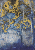 Isabella Lee - Inverted - forest colours - coloured pencil unframed: w 670 x h 910