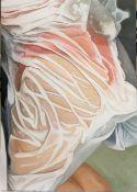 Elizabeth De Carteret - Wrapped Up In The Bath - oil on canvas, w 420 x h 600mm