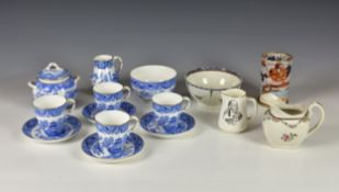 A collection of English and other ceramics, comprising a Royal Worcester part tea service in light