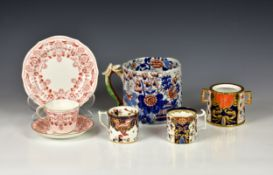 A small collection of Royal Crown Derby and other ceramics, comprising of a Royal Crown Derby