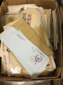POSTAL HISTORY MIxed box of covers and c