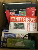 Box with various old Catalogues and acce