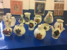 CRESTED CHINA, 12 different examples fro
