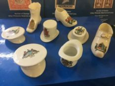 CRESTED CHINA, Hats and Shoes ! 8 differ