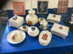 CRESTED CHINA, 10 different examples fro
