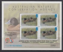 STAMPS BIRDS, Australia 1996-97 Wetlands