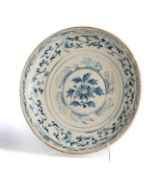 A BLUE AND WHITE CHARGER, PROBABLY ANAMESE 15TH / 16TH CENTURY