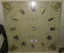 A grandfather clock face plate, 30 hour