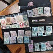 A selection of collection of various badges Victorian/Edwardian world stamps