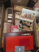 A selection of vintage card/board games