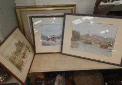 Bert Critchlow: Little Moreton Hall, watercolour, signed; local and other prints