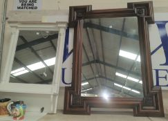 A free standing Victorian mahogany dressing table mirror , 2 other mirrors