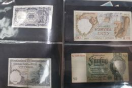A selection of various world banknotes