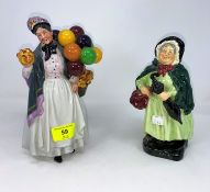 2 Royal Doulton figures - Sairey Gamp HN2100; Biddy Penny Farthing HN1843