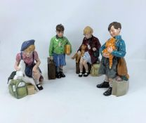 """4 Ltd edition Royal Doulton """"Children of the Blitz"""" figures - Welcome Home HN3299; The Boy Evacuee"""