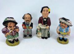 4 Royal Doulton Ltd Edition Toby Jugs - Lewis Carroll D7078; Charles Dickens D6997; Mansion House