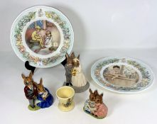 3 Royal Doulton Bunnykins groups - Wedding day, Family Photo & Storytime; 2 Royal Worcester Peter