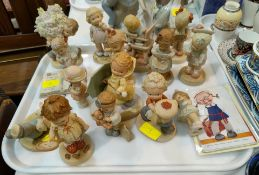 12 Mabel Lucie Attwell porcelain figures, 4 small and 8 large groups