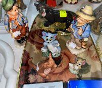Royal Doulton Jungle Book figures Bagheera JB 4; 3 other Disney figures; 2 Hummel figures of